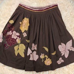 Anthropologie Viola Flare Skirt - 2